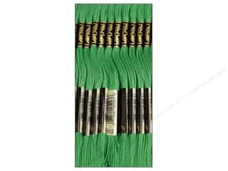 Embroidery Green: DMC Six-Strand Embroidery Floss #912 Light Emerald Green (12 skeins)