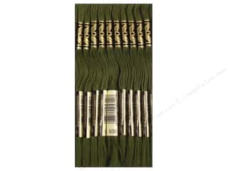 DMC Six-Strand Embroidery Floss #936 Very Dark Avocado Green (12 skeins)
