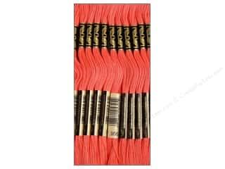 Sewing & Quilting DMC Six Strand Embroidery Floss: DMC Six-Strand Embroidery Floss #956 Geranium (12 skeins)