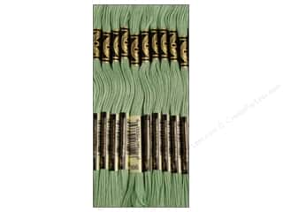 Baby Length: DMC Six-Strand Embroidery Floss #966 Medium Baby Green (12 skeins)