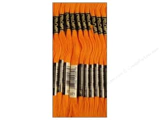 Yarn & Needlework DMC Six Strand Embroidery Floss: DMC Six-Strand Embroidery Floss #971 Pumpkin (12 skeins)
