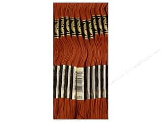 Staple Brown: DMC Six-Strand Embroidery Floss #975 Dark Golden Brown (12 skeins)