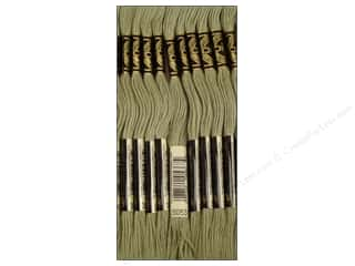 DMC Six-Strand Embroidery Floss #3053 Green Grey