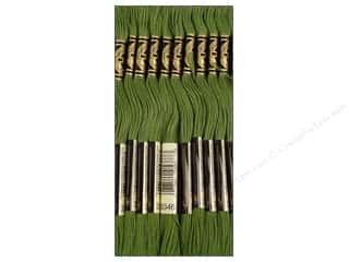 Embroidery Green: DMC Six-Strand Embroidery Floss #3346 Hunter Green (12 skeins)
