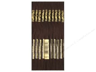 DMC Six-Strand Embroidery Floss #3371 Bk Brown (12 skeins)