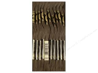 Staple Black: DMC Six-Strand Embroidery Floss #3787 Dark Brown Grey (12 skeins)