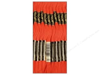 Floss Hot: DMC Six-Strand Embroidery Floss #3801 Light Christmas Red (12 skeins)
