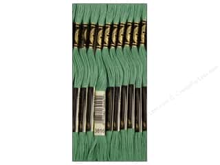 Embroidery Green: DMC Six-Strand Embroidery Floss #3816 Celadon Green (12 skeins)