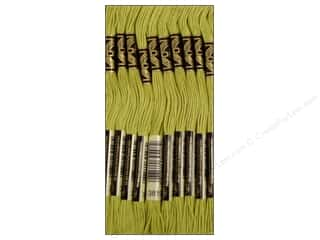 DMC Hot: DMC Six-Strand Embroidery Floss #3819 Light Moss Green (12 skeins)