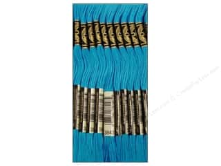 Yarn & Needlework: DMC Six-Strand Embroidery Floss #3843 Electric Blue (12 skeins)
