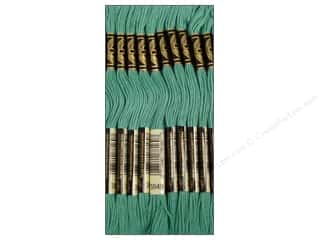 DMC Floss: DMC Six-Strand Embroidery Floss #3849 Light Teal Green (12 skeins)