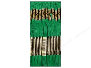 DMC Six-Strand Embroidery Floss #3850 Dark Bright Green (12 skeins)