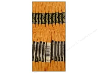 Yarn & Needlework: DMC Six-Strand Embroidery Floss #3854 Medium Autumn Gold (12 skeins)