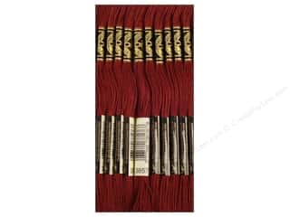 DMC Floss: DMC Six-Strand Embroidery Floss #3857 Dark Rosewood (12 skeins)