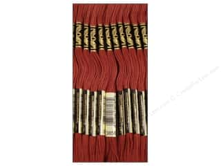 DMC Six-Strand Embroidery Floss #3858 Medium Rosewood (12 skeins)