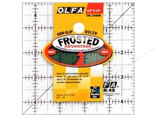"Measuring Tapes/Gauges $4 - $5: Olfa Frosted Acrylic Ruler 4.5""x 4.5"" Square"
