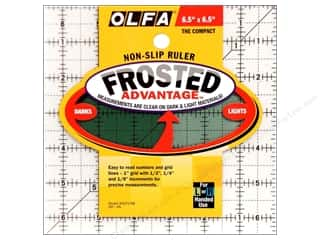 "Quilt Woman.com $5 - $6: Olfa Frosted Acrylic Ruler 6.5""x 6.5"" Square"