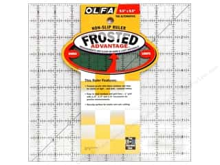 "Rulers Olfa Frosted Acrylic Ruler: Olfa Frosted Acrylic Ruler 9.5""x 9.5"" Square"