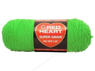 Dyes Spring: Red Heart Super Saver Yarn #0672 Spring Green 7 oz.