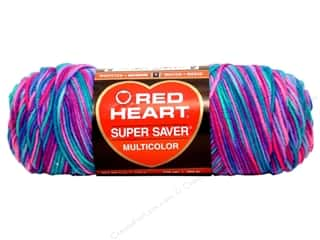 yarn: Red Heart Super Saver Yarn Bonbon Print 5 oz.