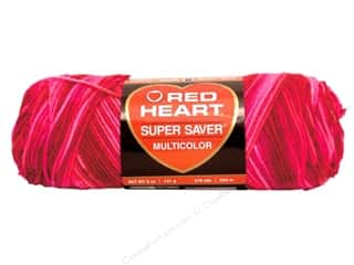 Red Heart Super Saver Yarn #0786 Candy Print 5 oz.