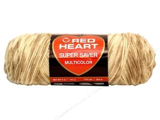 Clearance C&C TLC Essentials Yarn: Red Heart Super Saver Yarn Sandy Print 5 oz.