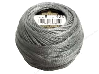 Yarn & Needlework DMC Pearl Cotton Balls Size 8: DMC Pearl Cotton Ball Size 8 #926 Medium Gray Green (10 balls)