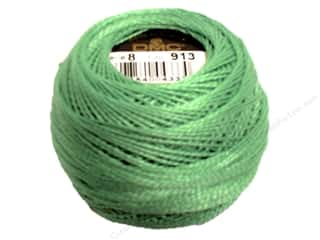 DMC Pearl Cotton Ball Size 8 #913 Medium Nile Green (10 balls)