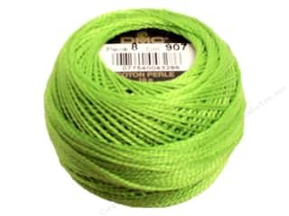 DMC Pearl Cotton Ball Size 8 #907 Light Parrot Green (10 balls)