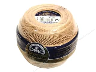 lace yarn: DMC Cebelia Crochet Cotton Size 20 #437 Camel
