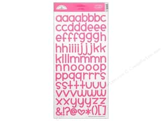 Doodlebug ABC & 123: Doodlebug Alphabet Stickers Cardstock Simply Sweet Bubblegum