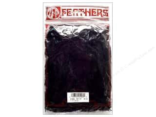 Feathers Doll Making: Zucker Feather Turkey Flats 0.5oz Black