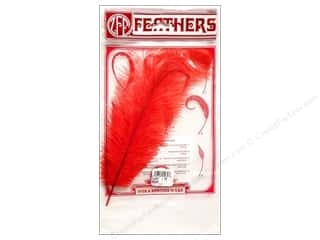 "Zucker Feather Ostrich Drab 11-13"" Red"