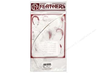 "Clearance Blumenthal Favorite Findings: Zucker Feather Ostrich Drab 9-13"" White"