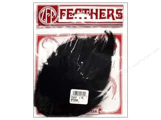 Feathers Black: Zucker Feather Hackle Pads Black