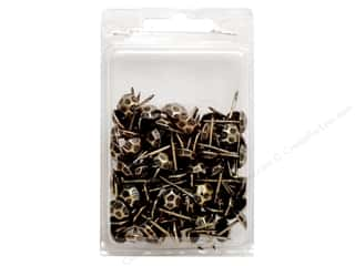 "Leather Factory Hardware Upholstery Tacks 3/4"" Hammered Antique 100pc"