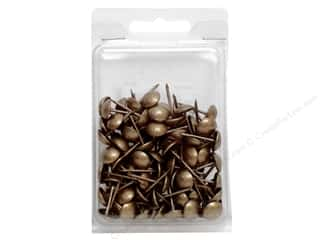 "Leather Factory Upholstery Tacks 3/4"" Smooth Ant"