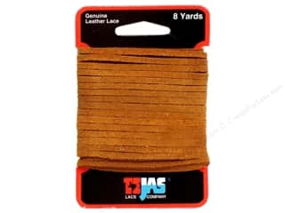 "Leather Factory Suede Lace 1/8""x8yd Light Rust"