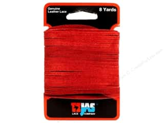 "Leather Factory Suede Lace 1/8""x8yd Red"