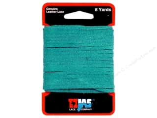 "Leather Factory Suede Lace 1/8""x8yd Turquoise"