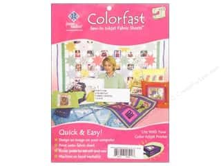 June Tailor Inkjet Fabric Sheet Colorfast Wht50pc