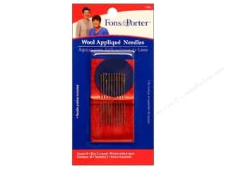 Fons & Porter: Fons & Porter Notions Needles Hand Wool Applique 10pc