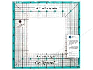 "Rotary Cutting Blue: June Tailor Ruler Get Squared 8.5""/4.5"""