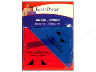 Rulers: Fons & Porter Ruler Triangle Trimmers 2pc