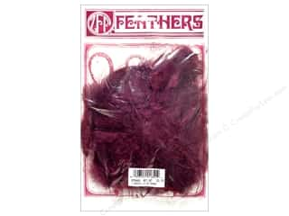 Marabou feathers: Zucker Feather Turkey Marabou Lg .25 oz Burgundy