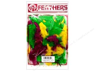 Turkey quill: Zucker Feather Turkey Marabou Lg .25 oz Mardi Gras