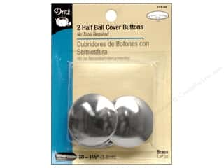 half ball cover buttons: Cover Buttons by Dritz Half Ball 1 1/2 in. 2 pc.