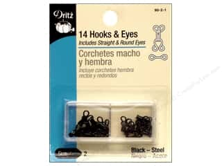 Eyes $2 - $3: Hooks and Eyes by Dritz Size 2 Black 14pc.