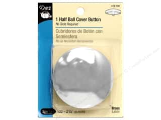 half ball cover buttons: Cover Buttons by Dritz Half Ball 2 1/2 in 1 pc.