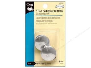 half ball cover buttons: Cover Buttons by Dritz Half Ball 1 1/8 in. 3 pc.